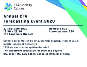 ANNUAL CFA FORECASTING EVENT 2020