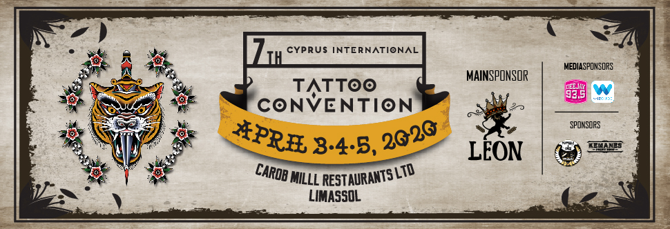 7th CYPRUS INTERNATIONAL TATTOO CONVENTION 2020- 3-DAY PASS