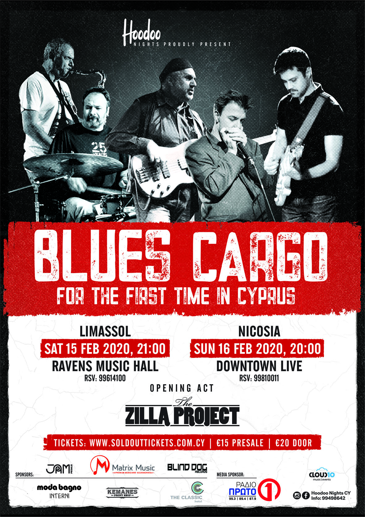 BLUES CARGO - TWO SHOWS IN CYPRUS