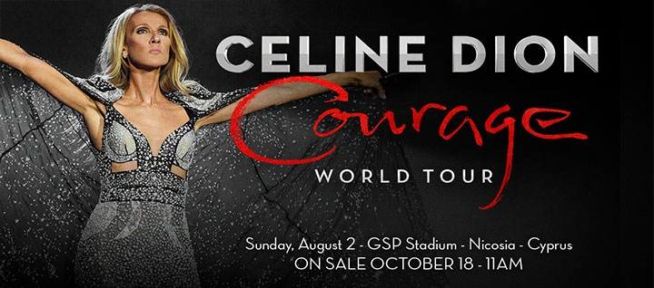 CELINE DION «COURAGE WORLD TOUR»